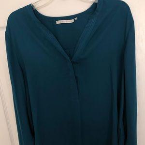 Long-sleeve Blue Blouse!